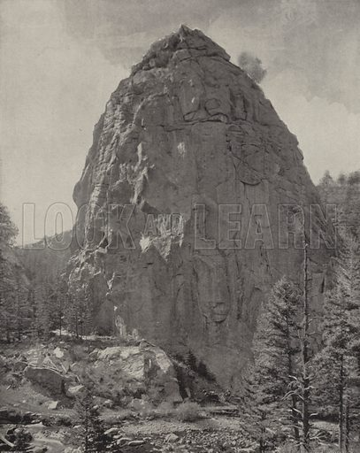 Dome Rock, Boulder Canyon. Illustration for America Photographed (Donohue, Henneberry, 1897).