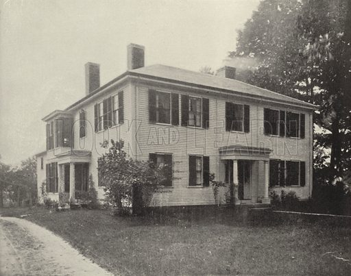 Old Emerson House, Concord, Massachusetts. Illustration for America Photographed (Donohue, Henneberry, 1897).