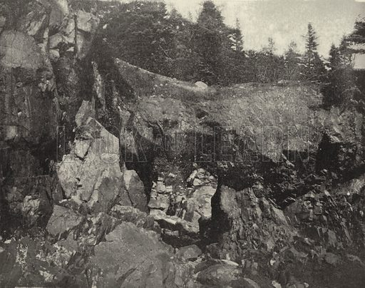 Natural Bridge at Cutler, Maine. Illustration for America Photographed (Donohue, Henneberry, 1897).