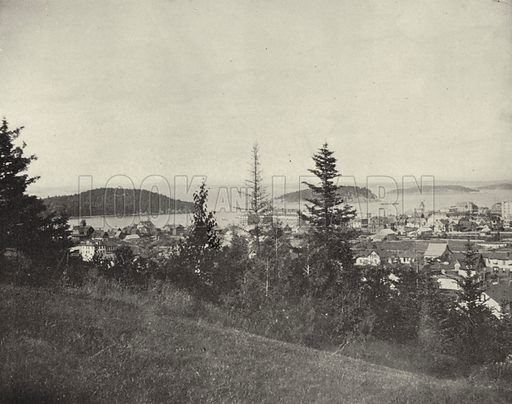 Bar Harbor, Maine. Illustration for America Photographed (Donohue, Henneberry, 1897).