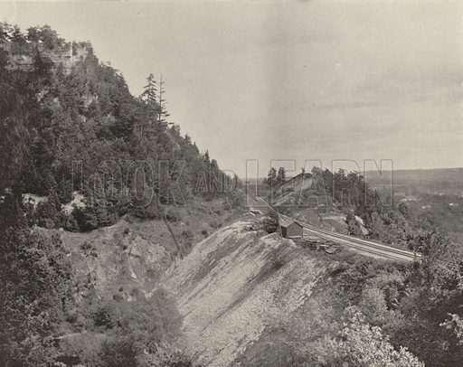 Lookout Mountain, near Dundas, Ontario. Illustration for America Photographed (Donohue, Henneberry, 1897).