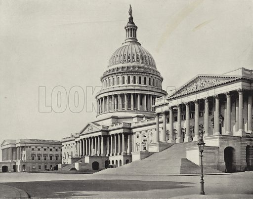 The Capital Building at Washington. Illustration for America Photographed (Donohue, Henneberry, 1897).
