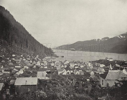 Juneau and Douglass Island, Alaska. Illustration for America Photographed (Donohue, Henneberry, 1897).