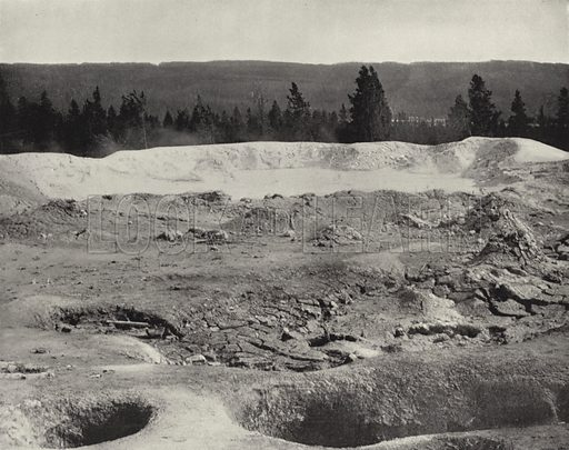 Mammoth Paint Pots, Yellowstone Valley, Wyoming. Illustration for America Photographed (Donohue, Henneberry, 1897).