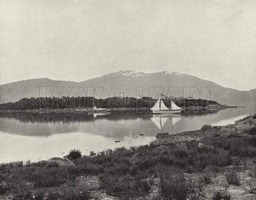 Fort Wrangel and Harbor, Alaska. Illustration for America Photographed (Donohue, Henneberry, 1897).