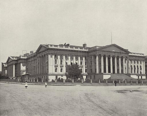 The Treasury Building, Washington, DC. Illustration for America Photographed (Donohue, Henneberry, 1897).