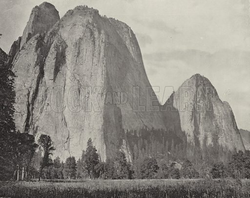 Cathedral Rock, Yosemite, California. Illustration for America Photographed (Donohue, Henneberry, 1897).