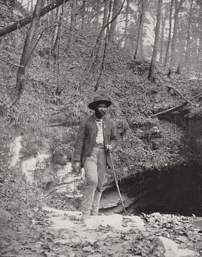 Entrance to Mammonth Cave, Kentucky. Illustration for America Photographed (Donohue, Henneberry, 1897).