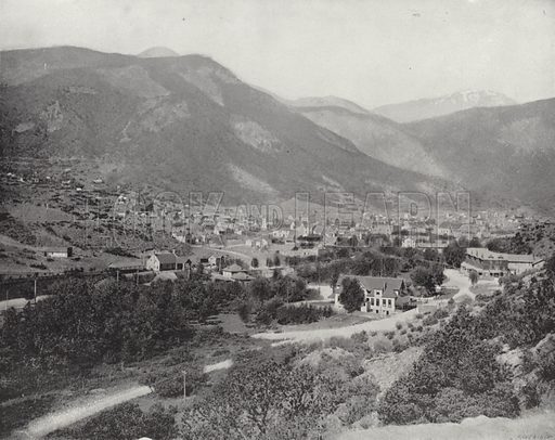 Manitou, Colorado. Illustration for America Photographed (Donohue, Henneberry, 1897).
