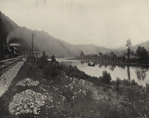 Cable Ferry near Lacolle, Pennsylvania. Illustration for America Photographed (Donohue, Henneberry, 1897).