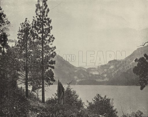 Emerald Bay, Lake Tahoe. Illustration for America Photographed (Donohue, Henneberry, 1897).