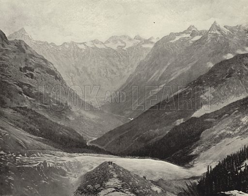 In the Heart of the Selkirks. Illustration for America Photographed (Donohue, Henneberry, 1897).