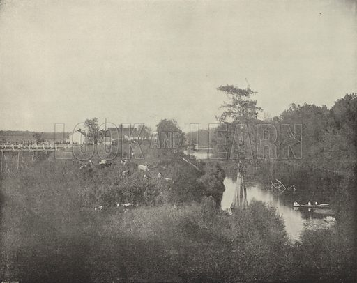 Tensas River, Louisiana. Illustration for America Photographed (Donohue, Henneberry, 1897).