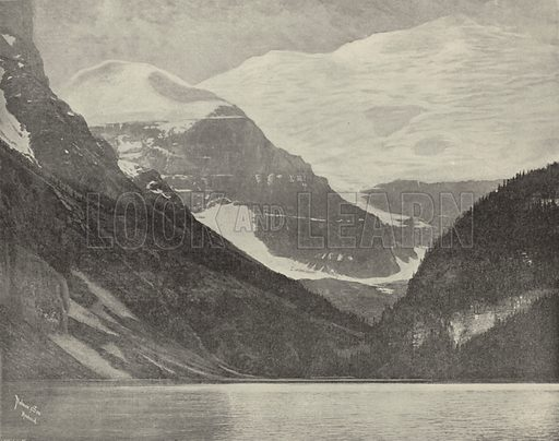 Lake Louise in the Selkirk Mountains. Illustration for America Photographed (Donohue, Henneberry, 1897).