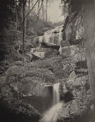 Fall Creek Cascade, North Carolina. Illustration for America Photographed (Donohue, Henneberry, 1897).