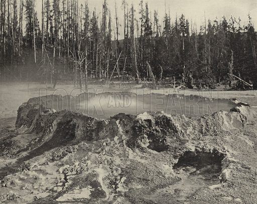 The Punch Bowl, Yellowstone National Park. Illustration for America Photographed (Donohue, Henneberry, 1897).