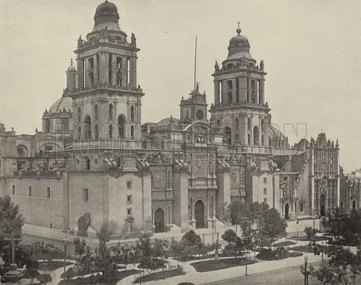 Cathedral at City of Mexico. Illustration for America Photographed (Donohue, Henneberry, 1897).
