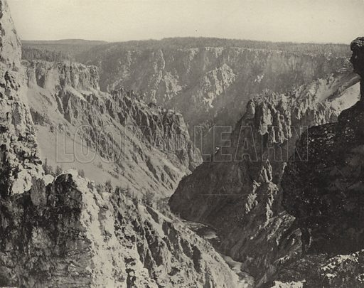 Grand Canyon of the Yellowstone. Illustration for America Photographed (Donohue, Henneberry, 1897).