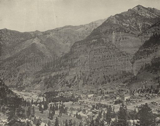Ouray, Colorado. Illustration for America Photographed (Donohue, Henneberry, 1897).
