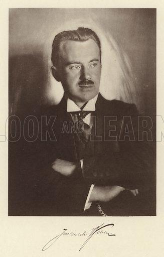 Portrait of J M Erich Weber, confectioner. Illustration for Praktische Konditorei-Kunst by J M Erich Weber (Internationaler Fachverlag J M Erich Weber, 1926).