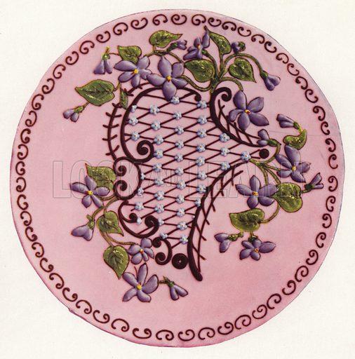 Violet cake. Illustration for Praktische Konditorei-Kunst by J M Erich Weber (Internationaler Fachverlag J M Erich Weber, 1926).