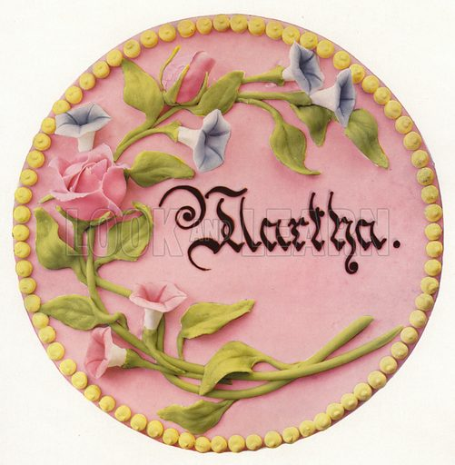 Martha cake. Illustration for Praktische Konditorei-Kunst by J M Erich Weber (Internationaler Fachverlag J M Erich Weber, 1926).