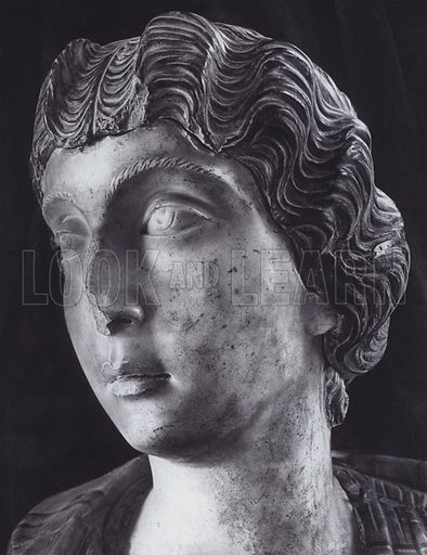 Lucilla, About 200 AD, Rome, Palazzo Capitolino. Illustration for Roman Portraits edited by Ludwig Goldscheider (Phaidon Edition, Oxford University Press, New York, 1940). Gravure printed.