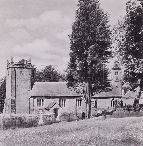 Lytchett Matravers. Illustration for Unspoiled Dorset, A Book of Photographs by SW Colyer (Ward Lock, c 1940). Gravure printed.