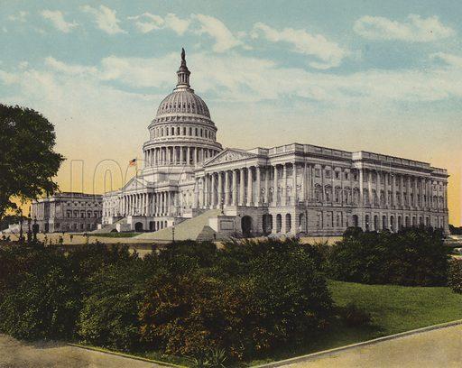 The Capitol. Illustration for Washington, The City Beautiful (B S Reynolds, c 1915).