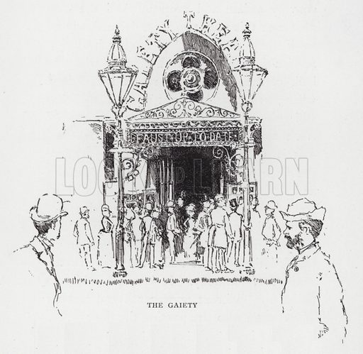 The Gaiety. Illustration for Charing Cross to St Paul's (Seeley, 1893).
