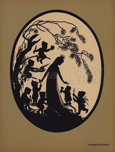 Schneewittchen. Illustration for Deutsche Marchen by Johanna Beckmann (Potsdam, Stiftungsverlag, 1920).