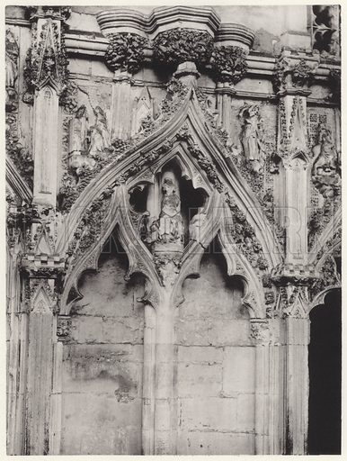 South Side, IVB. Illustration for The Sculptures in the Lady Chapel at Ely, illustrated in fifty-five collotype plates, with descriptions and identifications by Montague Rhodes James (D Nutt, 1895).