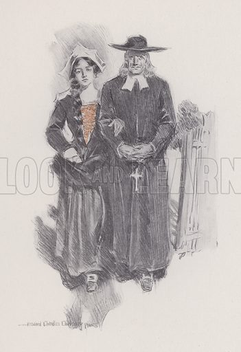 Illustration for Evangeline, A Tale of Arcadie, by Henry Wadsworth Longfellow (Bobbs-Merrill, 1905).