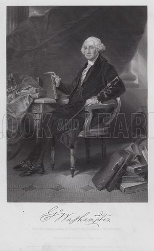 George Washington. Illustration for National Portrait Gallery of Eminent Americans by Evert A Duyckinck (Johnson, Fry, 1861-1864).
