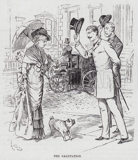 The Salutation. Illustration for The Universal Self-Instructor and Manual of General Reference (Sydney; McNeil and Coffee, c 1885).