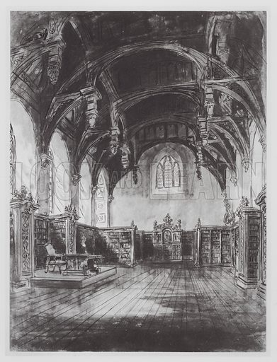The Library, Lambeth Palace. Illustration for Changing London (Second Series) (Cassell, 1925).