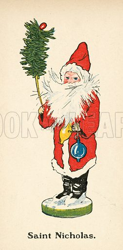 Saint Nicholas. Illustration for More Dollies, with pictures by Ruth Cobb and verses by Richard Hunter (Grant Richards, 1903).