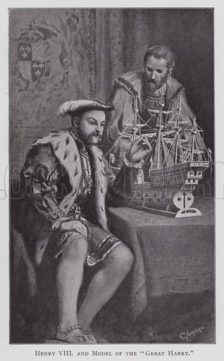 "Henry VIII, and Model of the ""Great Harry"""