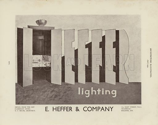 Advertisement.  Illustration for Architecture Illustrated, April, 1932.