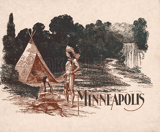 Cover illustration for Minneapolis, Metropolis of the Great North West (c 1910).