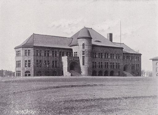 Pillsbury Hall, University of Minnesota.  Illustration for Minneapolis, Metropolis of the Great North West (c 1910).  Many of the photos appear to be late 19th century.
