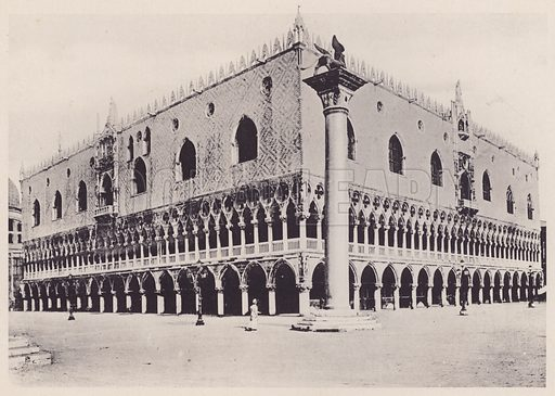 Palazzo Ducale.  Illustration for a booklet of views of Venice (np, c 1900).