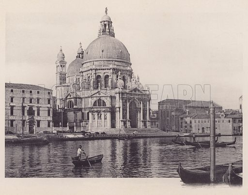 Chiesa Della Salute.  Illustration for a booklet of views of Venice (np, c 1900).