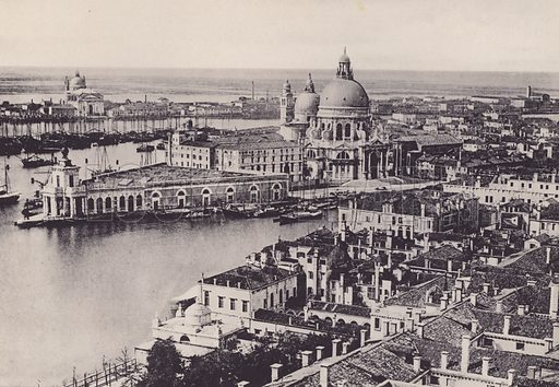 Illustration for a booklet of views of Venice (np, c 1900).