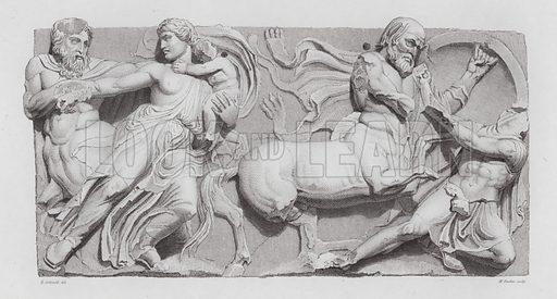 Centaur abducting a woman, ancient Greek marble sculpture