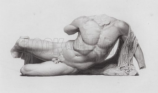 Ilissos, ancient Greek marble sculpture from the Parthenon, Athens