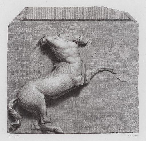 Centaur, ancient Greek marble sculpture from the Parthenon, Athens