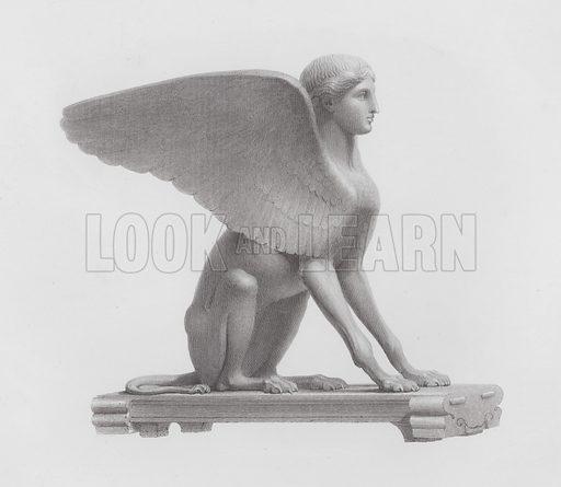 Sphinx, ancient Roman marble sculpture