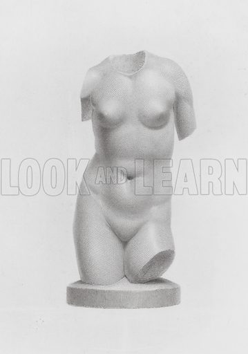 Torso of Venus, ancient Greco-Roman marble sculpture