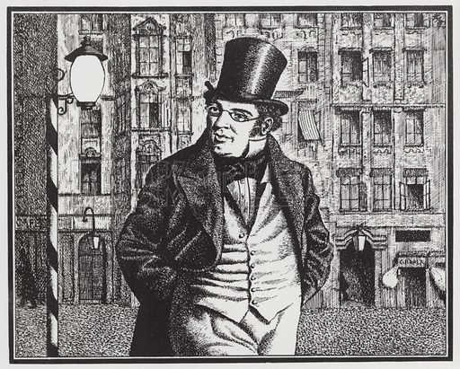 Franz Schubert leaving the coffee house
